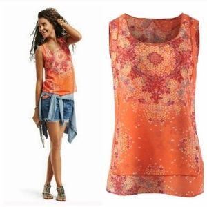 CAbi Merrow Edge Orange Tank #264